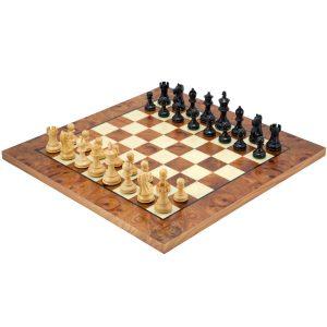Tablero de ajedrez de lujo fabricado en ebano