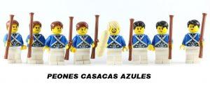 Peones de Ajedrez Lego Casacas Azules