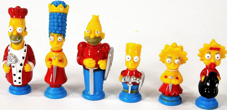 Piezas de Ajedrez de Los Simpsons