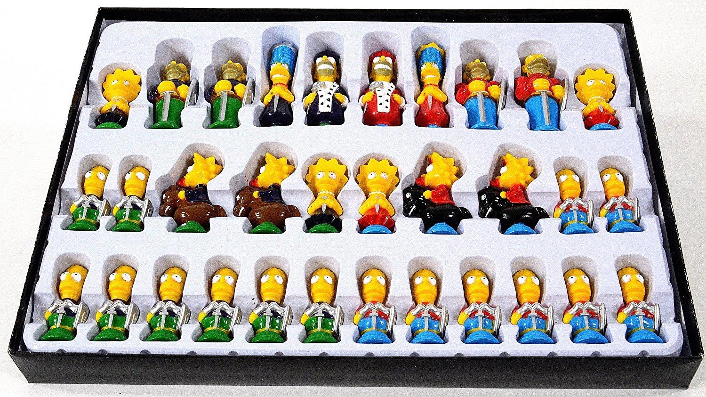Estuche del Juegos de Ajedrez de Los Simpsons