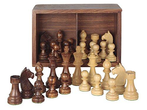 Aquamarine Games - Piezas de ajedrez Staunton 5 en caja de lujo, juego (Compudid ST5)