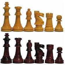 Piezas ajedrez de madera Staunton 6 amarillo y caoba