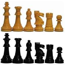 Piezas ajedrez de madera Staunton 6 amarillo y negro