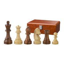 Piezas de ajedrez - Artus - Madera - Staunton - Altura rey 90 mm