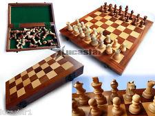 Ajedrez juego de piezas Madera Tablero plegable 25x25