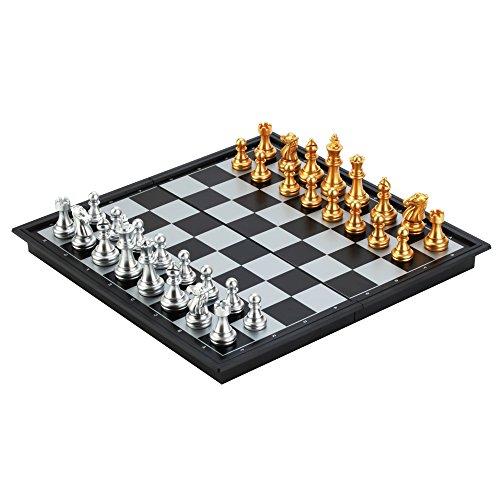 Bytan juego de ajedrez magnético de viaje tablero portátil plegable de plástico 25 x 25 x 2 cm