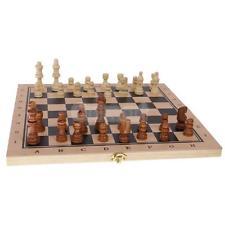 Juego de ajedrez de madera plegable 3 en 1 Juego de ajedrez para niños