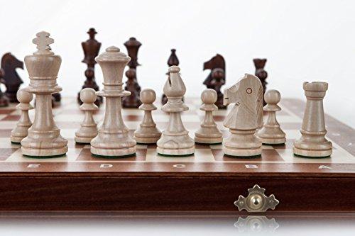 TORNEO 5 - grande 48cm/18,9 en a mano juego de ajedrez de madera Staunton profesional