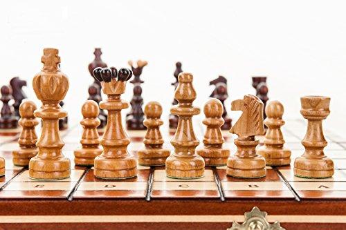 ÚNICO, grande - 37cm/14,6 en ajedrez artesanal de madera Set cerezas árbol