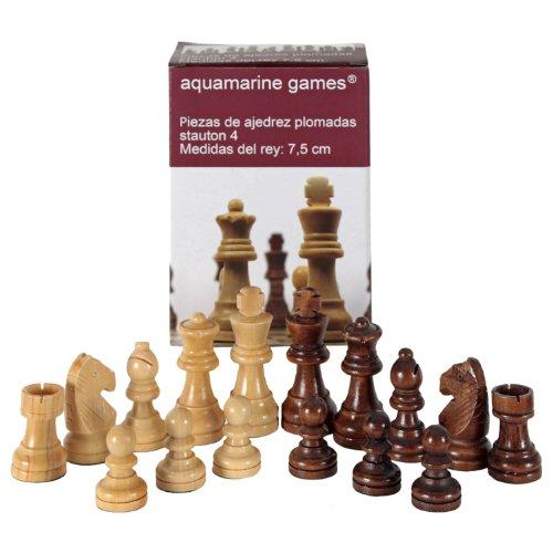 Aquamarine Games - Stauton 4, piezas de ajedrez (Compudid CP002)