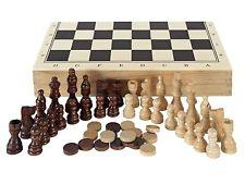 Juegos de Mesa Ajedrez Damas y Backgammon en Estuche Juguete Educativo Niño Niña