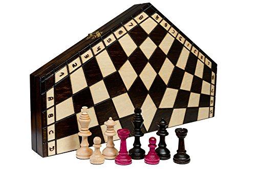 El CONJUNTO del AJEDREZ JUGADOR 3 - media 32cm/13 en el conjunto del ajedrez de madera artesanal (blanco, negro, rojo)