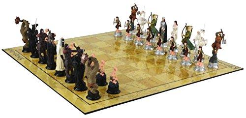 Señor de los Anillos Juego de ajedrez 3D Juego - Personajes con licencia Lord of the Rings