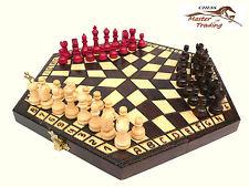 Wow! Madera Ajedrez juego para 3 JUGADORES perfecto hecho a mano Lote Oferta