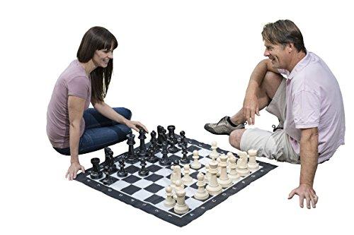 Traditional Garden Games - Juego gigante de ajedrez, 2 jugadores [Importado]
