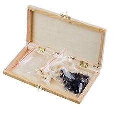5X(Tablero de ajedrez de madera plegable con cerradura y bisagras - Piezas de aj