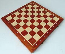 NUEVO Madon TORNEO NUMBER 5 Plegable Madera Tablero de ajedrez 48cm