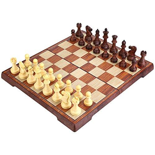 Peradix Tablero de ajedrez Plegable Magnético Juego de Tácticas de Educación 34.5 × 29.7cm