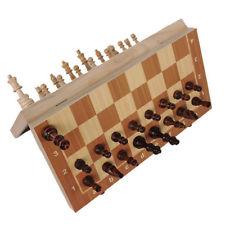 Juego ajedrez torneo magnético de madera de viaje magnético viaje para niños bu4
