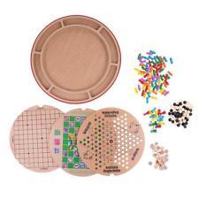 Juego de mesa de juego de ajedrez multifuncional 10 en 1 para niños