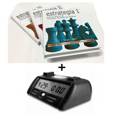 3 Tomos Botvinnik Tapa Dura + Reloj Digital Dichess XT