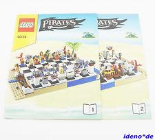 LEGO PIRATAS MANUAL DE INSTRUCCIONES 40158 Piratas AJEDREZ JUEGO NO piezas
