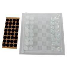 Juego de tablero de ajedrez de vidrio transparente juego para los niños