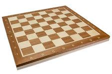 Caoba / Sycamore plegable madera TORNEO Tablero de ajedrez No 5 (5cm SQ )