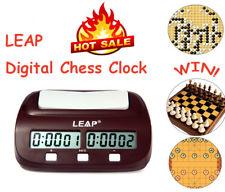 Digital LEAP Portátil Reloj Ajedrez Chess I-GO Conde Arriba Abajo Temporizador