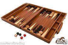 Exclusivo Incrustación Backgammon En Caoba maletero 50 x 38cm madera