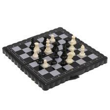 Bolsillo de plástico magnético mini plegable tablero de ajedrez juego de