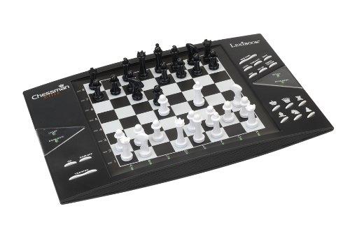 LEXIBOOK Ajedrez electrónico Chessman Elite, Todo Nivel, Juego de Mesa (CG1300), Color Negro/Blanco