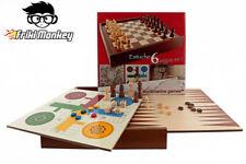 Aquamarine Games - 6 Juegos clásicos: ajedrez, Damas, Backgammon, oca,...