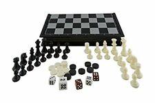 Aquamarine Games Ajedrez, damas y backgammon, magnético (CP024)