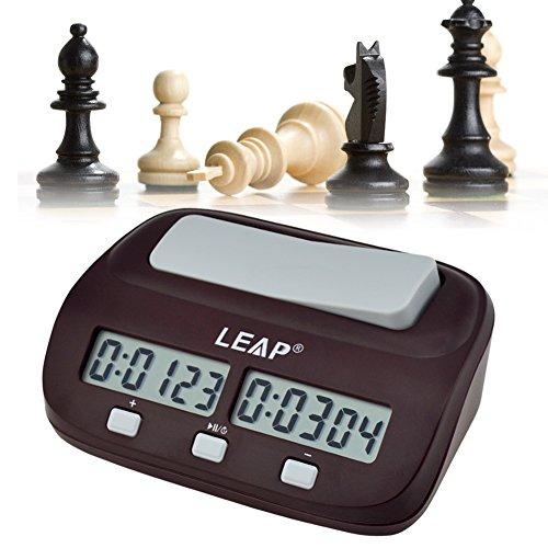 Reloj digital para jugar al ajedrez | Despertador para niños | 2 Pantallas Led Temporizadas, Apto Para Todo Tipo De Juegos Competitivos -CkeyiN