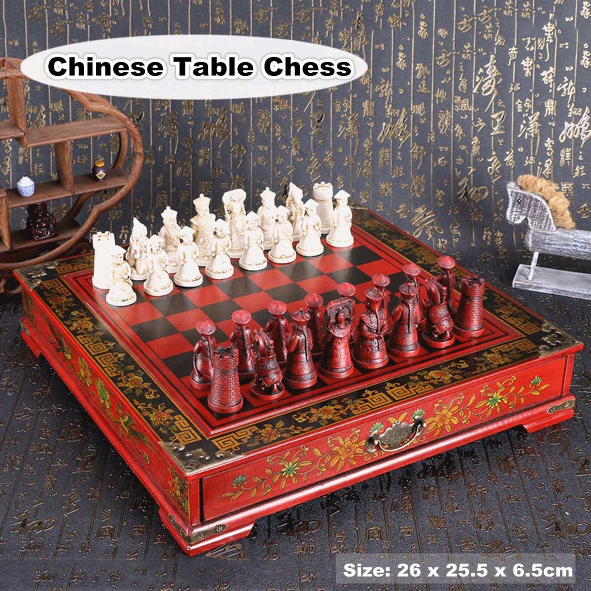 €23.85 10% de DESCUENTO|32 unids/set de Ajedrez de madera chino Retro de terracota Chessman ajedrez madera años tallado resina Chessman regalo de Navidad de cumpleaños|Juegos de ajedrez| | - AliExpress