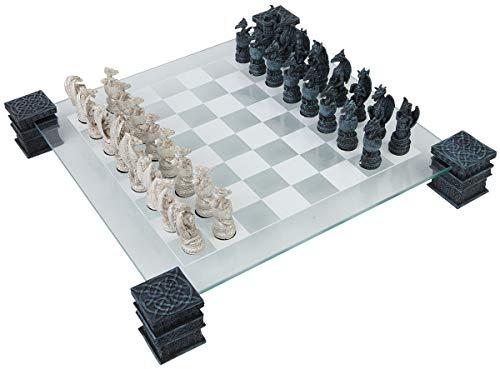 Nemesis Now Dragon - Juego de ajedrez (43 cm), Color Negro