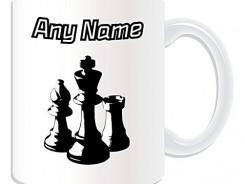 Taza de regalo personalizada de ajedrez – Se puede cambiar el diseño