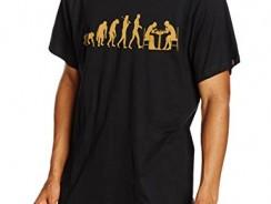 Shirtzshop Camiseta Bronce Edition Ajedrez Ajedrez Jugadores Ajedrez Chess Evolution Negro negro Talla:S