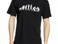 Camiseta edición estándar evolución jugador de ajedrez, serigrafiado T-Shirt Schwarz Talla:medium