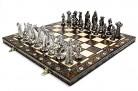 PLATA MEDIEVAL – juego de ajedrez grande 42cm/16,5 en cromo artística