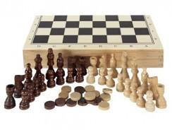 Aquamarine Games – Ajedrez, damas y backgammon en estuche (Compudid CP1070)