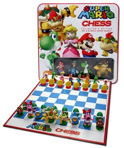 Edredon De Mario Bros.Juego De Ajedrez Con Figuras De Super Mario Bros