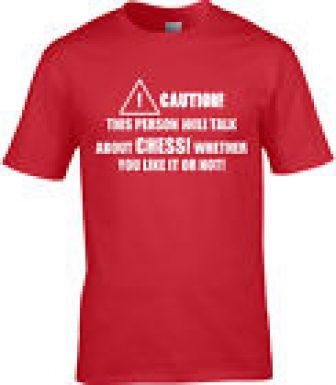 AJEDREZ Camiseta Hombre Genial Afición Juego de MESA STRATEGY