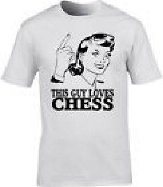 AJEDREZ Camiseta Hombre Juego de MESA Player STRATEGY