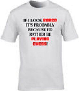 AJEDREZ Camiseta Hombre QUISIERA Rather Be Regalo Divertido IDEA Juego de mesa...