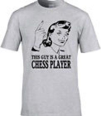 AJEDREZ Camiseta Idea REgalo Diseño único juego de mesa equipo Player