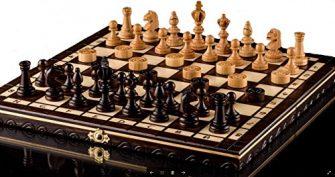 AJEDREZ OLÍMPICO de CEREZA y DAMAS - juego de ajedrez de madera...