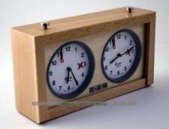GARDE Game / Reloj de ajedrez analógico, madera