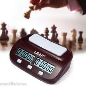Leap pq9907 Digital Reloj de ajedrez I-Go CONDE Arriba Abajo Temporizador Juego